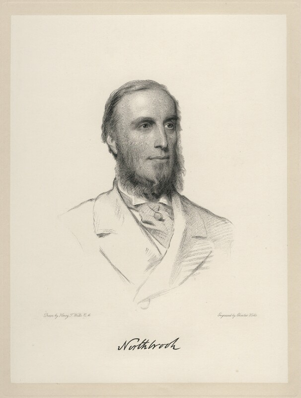 Thomas George Baring, 1st Earl of Northbrook, by Charles Holl, after  Henry Tanworth Wells, 1869 or after - NPG D20709 - © National Portrait Gallery, London