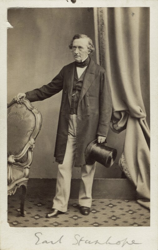 Philip Stanhope, 5th Earl Stanhope, by Maull & Polyblank, circa 1862 - NPG Ax30355 - © National Portrait Gallery, London