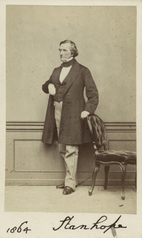 Philip Stanhope, 5th Earl Stanhope, by Thomas Richard Williams, 1864 - NPG Ax30356 - © National Portrait Gallery, London