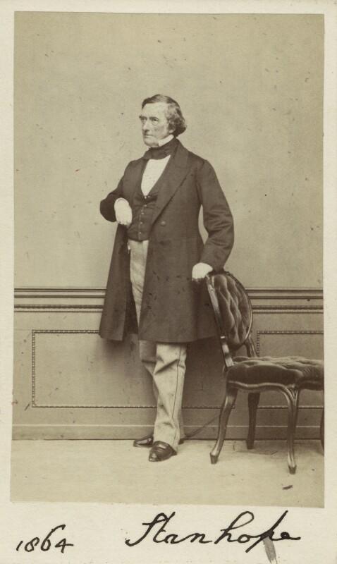 Philip Stanhope, 5th Earl Stanhope, by Thomas Richard Williams, 1864 - NPG Ax30356 - © National Portrait Gallery, London