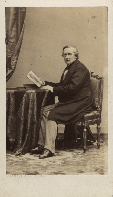 Philip Stanhope, 5th Earl Stanhope, by Disdéri, circa 1860 - NPG Ax30358 - © National Portrait Gallery, London