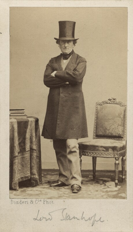 Philip Stanhope, 5th Earl Stanhope, by Disdéri, circa 1860 - NPG Ax30359 - © National Portrait Gallery, London