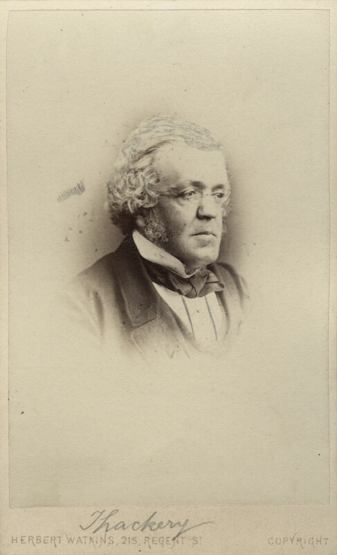 William Makepeace Thackeray, by (George) Herbert Watkins, 1860-1863 - NPG Ax30392 - © National Portrait Gallery, London