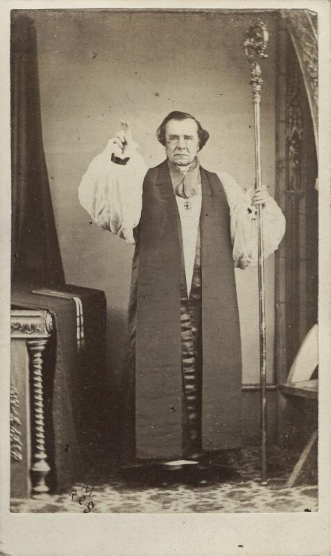 Samuel Wilberforce, by Alfred Richard Mowbray, 1864 - NPG Ax30402 - © National Portrait Gallery, London