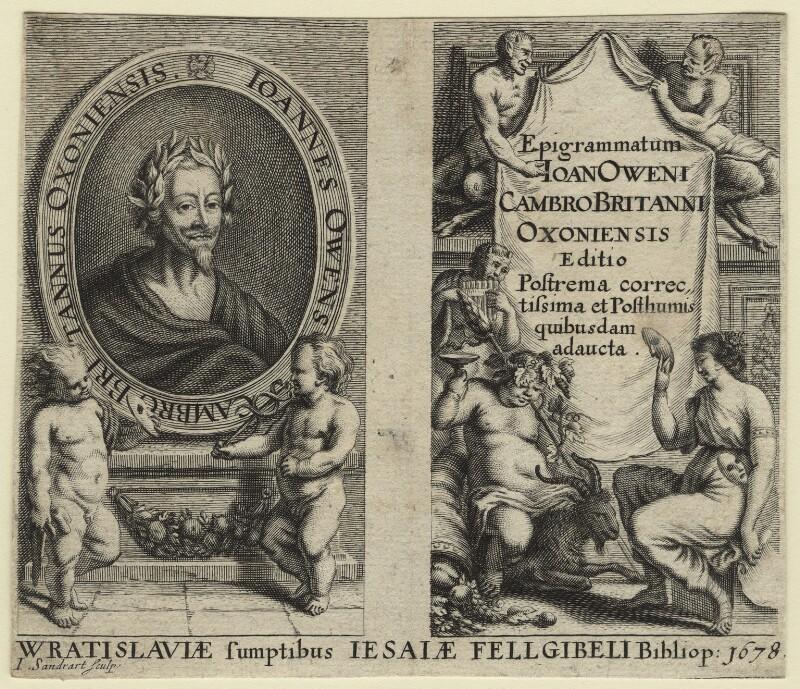 John Owen, by Joachim von Sandrart, after  Unknown artist, published 1678 - NPG D21220 - © National Portrait Gallery, London