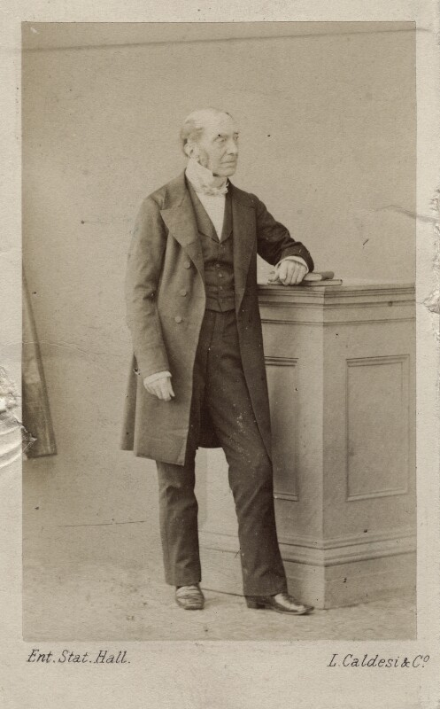 Sir Charles Lock Eastlake, by Leonida Caldesi, early 1860s - NPG Ax14801 - © National Portrait Gallery, London