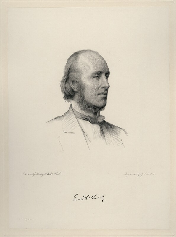 (William) Edward Hartpole Lecky, by George J. Stodart, after  Henry Tanworth Wells, 1887 or after - NPG D20730 - © National Portrait Gallery, London
