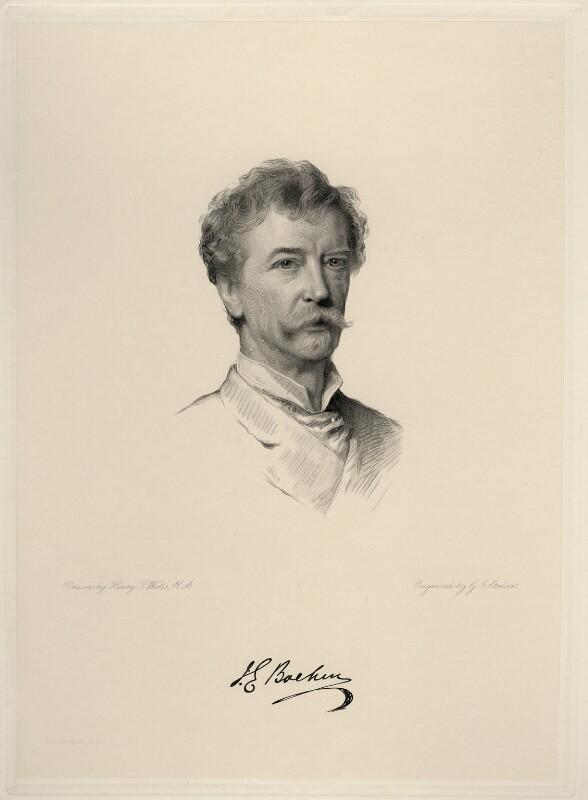Sir Joseph Edgar Boehm, 1st Bt, by George J. Stodart, after  Henry Tanworth Wells, 1886 or after - NPG D20731 - © National Portrait Gallery, London