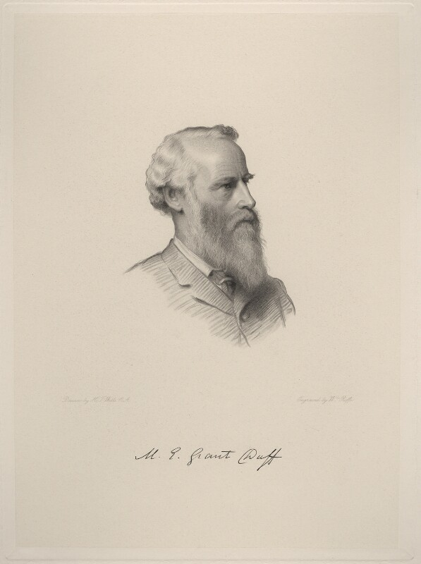 Sir Mountstuart Elphinstone Grant-Duff, by William Roffe, after  Henry Tanworth Wells, 1889 or after - NPG D20735 - © National Portrait Gallery, London