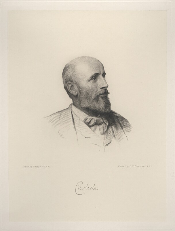 George James Howard, 9th Earl of Carlisle, by Charles William Sherborn, after  Henry Tanworth Wells, 1892 or after - NPG D20737 - © National Portrait Gallery, London
