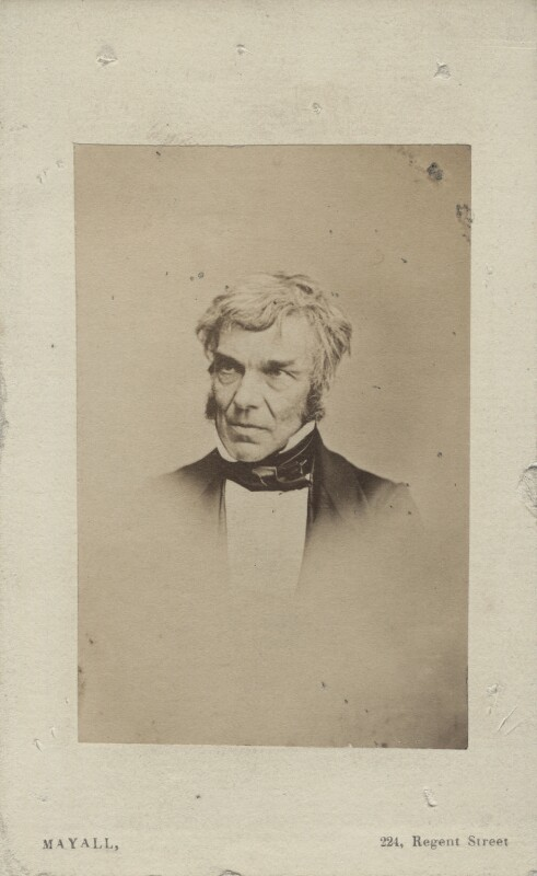Charles Robert Leslie, by John Jabez Edwin Mayall, mid-late 1850s - NPG Ax14809 - © National Portrait Gallery, London
