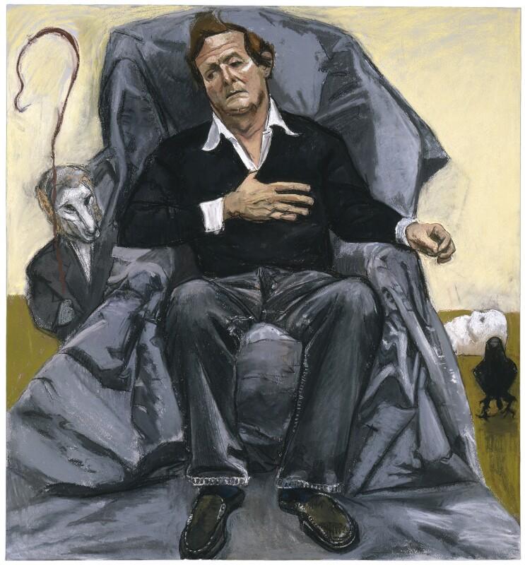 Sir David Hare, by Paula Rego, 2005 - NPG 6746 - © National Portrait Gallery, London