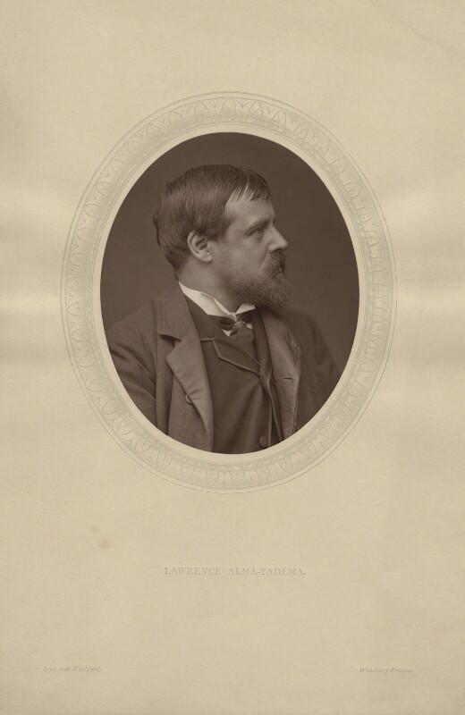 Sir Lawrence Alma-Tadema, by Lock & Whitfield, published by  Sampson Low, Marston, Searle and Rivington, published 1881 - NPG x311 - © National Portrait Gallery, London