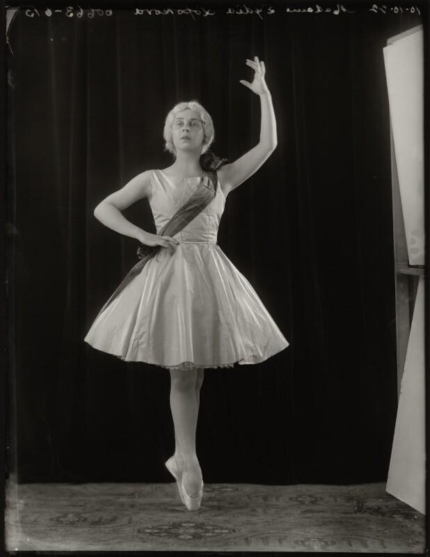 Lydia Lopokova, by Bassano Ltd, 10 October 1922 - NPG x127826 - © National Portrait Gallery, London