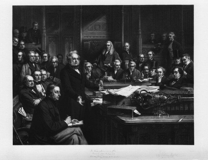The House of Commons, 1860, by Thomas Oldham Barlow, after  John Phillip, 1863 or after - NPG D1396 - © National Portrait Gallery, London