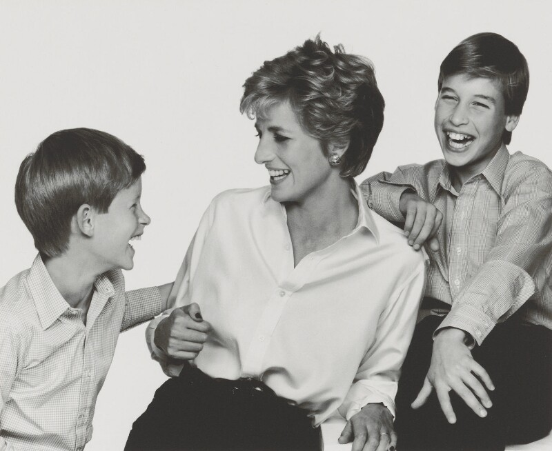 'Diana, Princess of Wales with her sons', by John Swannell, 1994 - NPG P717(16) - © John Swannell / Camera Press