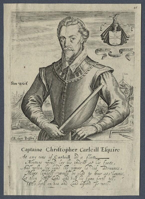 Christopher Carleill, by Robert Boissard, after  Unknown artist, circa 1593-1603 - NPG D21248 - © National Portrait Gallery, London