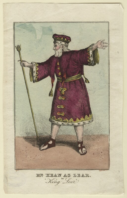 Edmund Kean as King Lear, by (Isaac) Robert Cruikshank, published 1823 - NPG D21266 - © National Portrait Gallery, London