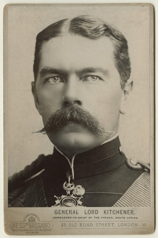 Herbert Kitchener, 1st Earl Kitchener, by Alexander Bassano, 1885 - NPG x127983 - © National Portrait Gallery, London