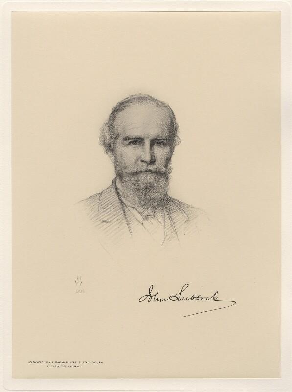 John Lubbock, 1st Baron Avebury, after Henry Tanworth Wells, (1896) - NPG D20741 - © National Portrait Gallery, London