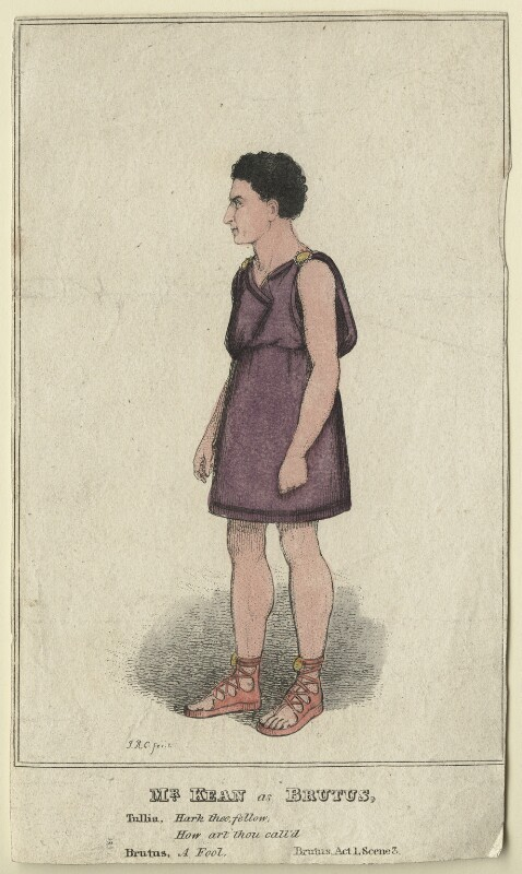 Edmund Kean as Lucius Junius in 'Brutus', by (Isaac) Robert Cruikshank, published 1819 - NPG D21268 - © National Portrait Gallery, London