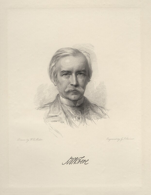 Sir (Henry) Bartle Edward Frere, 1st Bt, by George J. Stodart, after  William Edwards Miller, 1874 or after - NPG D20764 - © National Portrait Gallery, London