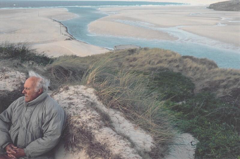 Patrick Heron at Lelant Sands, by Susanna Heron, 1998 - NPG P711 - © Susanna Heron/ DACS 2017