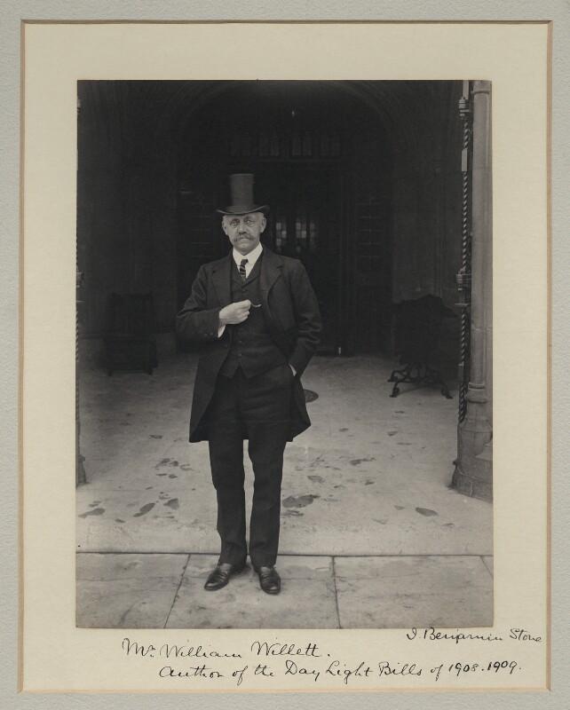 William Willett, by Benjamin Stone, 1909 - NPG x45027 - © National Portrait Gallery, London