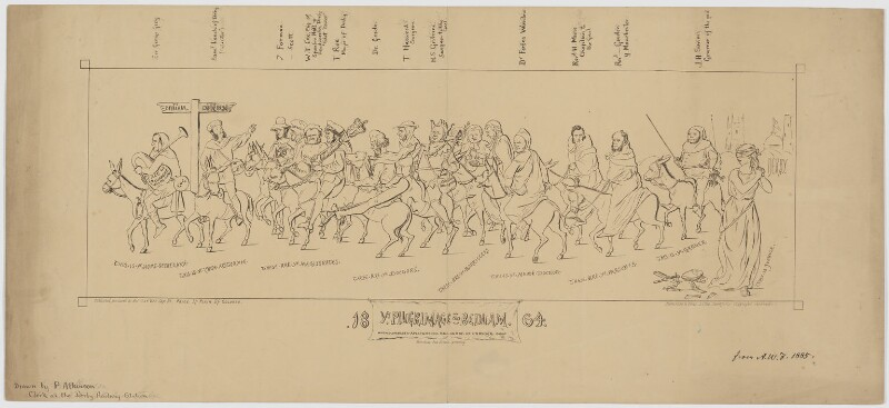 Ye Pilgrimage to Bedlam 1864, after Joseph Priestman Atkinson, 1864 or after - NPG D3783 - © National Portrait Gallery, London