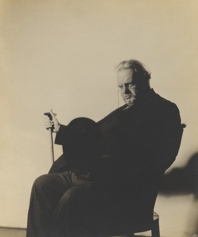 G.K. Chesterton, by Howard Coster, 1926 - NPG P713 - © National Portrait Gallery, London