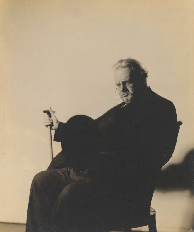 G.K. Chesterton, by Howard Coster, 1926 - NPG P713 - © National Portrait Gallery, London