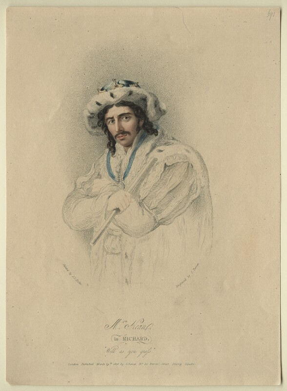 Edmund Kean as Richard III, by and published by Charles Turner, after  John James Halls, published 1814 - NPG D21261 - © National Portrait Gallery, London