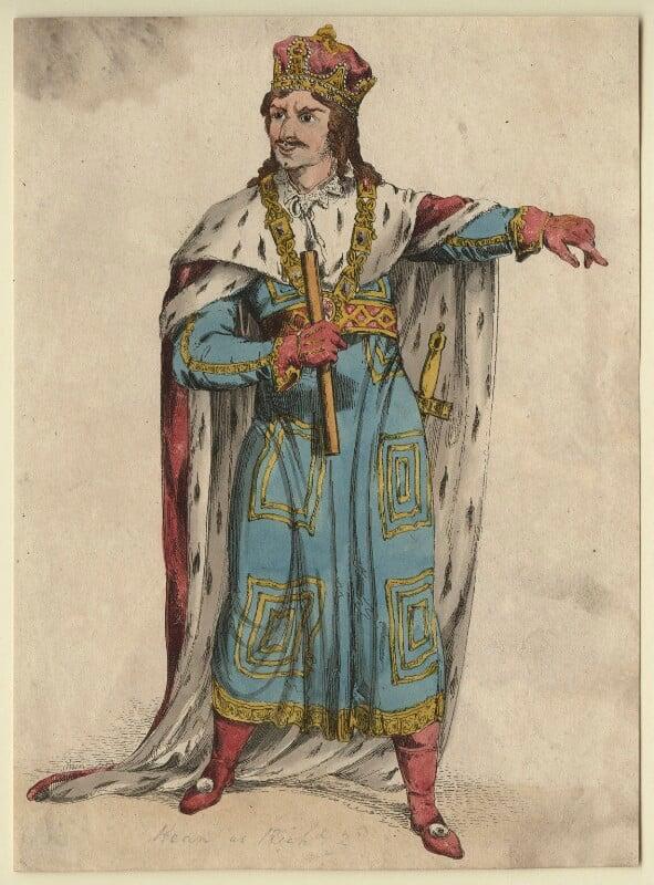 Edmund Kean as Richard II, after Unknown artist, early 19th century - NPG D21259 - © National Portrait Gallery, London