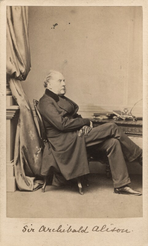 Sir Archibald Alison, 1st Bt, by Alexander McNab, published by  Mason & Co (Robert Hindry Mason), 1862 - NPG Ax5053 - © National Portrait Gallery, London