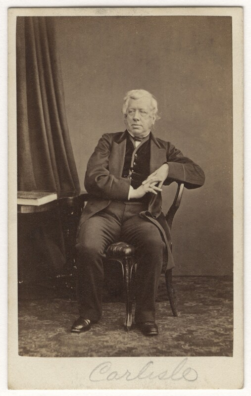 George William Frederick Howard, 7th Earl of Carlisle, by Thomas Cranfield, early-mid 1860s - NPG x5635 - © National Portrait Gallery, London