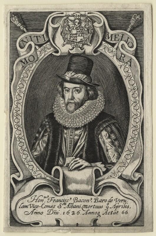 Francis Bacon, 1st Viscount St Alban, after Simon de Passe, after 1626 - NPG D21283 - © National Portrait Gallery, London