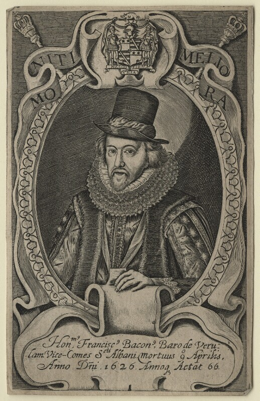 Francis Bacon, 1st Viscount St Alban, after Simon de Passe, after 1626 - NPG D21284 - © National Portrait Gallery, London