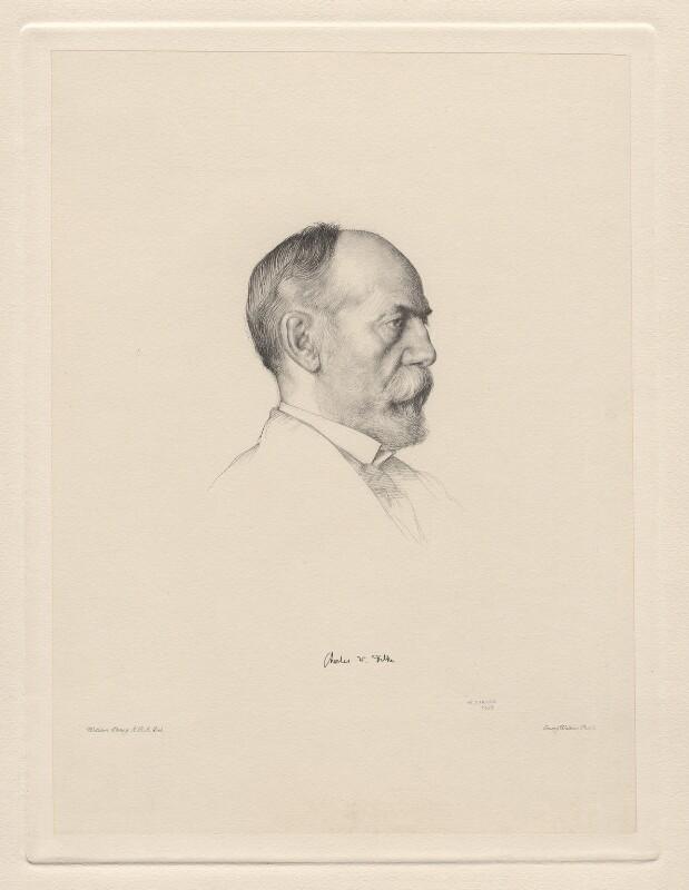 Sir Charles Wentworth Dilke, 2nd Bt, by Sir Emery Walker, after  William Strang, (1908) - NPG D20768 - © National Portrait Gallery, London