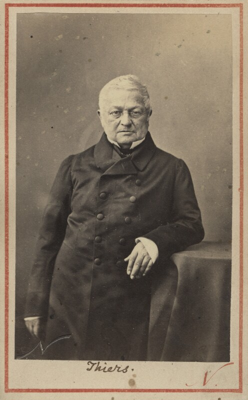 Louis Adolphe Thiers, by Nadar (Gaspard Félix Tournachon), 1862 or before - NPG Ax30393 - © National Portrait Gallery, London