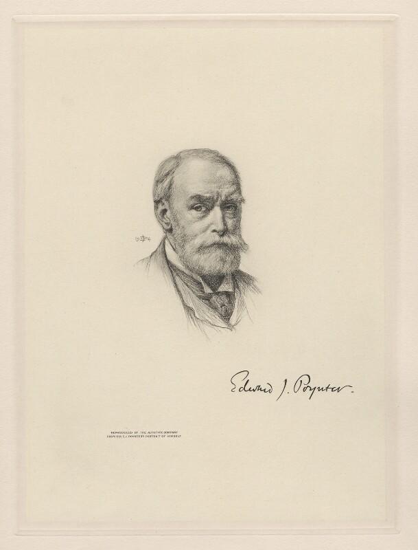 Sir Edward John Poynter, 1st Bt, after Sir Edward John Poynter, 1st Bt, 1904 - NPG D20780 - © National Portrait Gallery, London