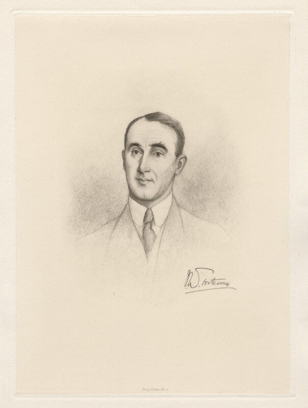 Sir John William Fortescue, by Sir Emery Walker, 1909 or after - NPG D20792 - © National Portrait Gallery, London