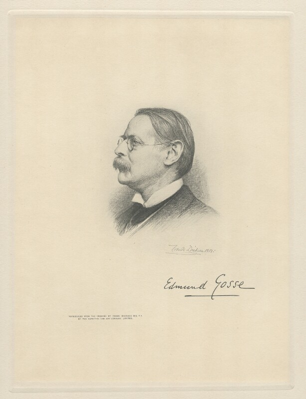 Sir Edmund William Gosse, by The Autotype Company, after  Sir Francis Bernard ('Frank') Dicksee, (1912) - NPG D20806 - © National Portrait Gallery, London