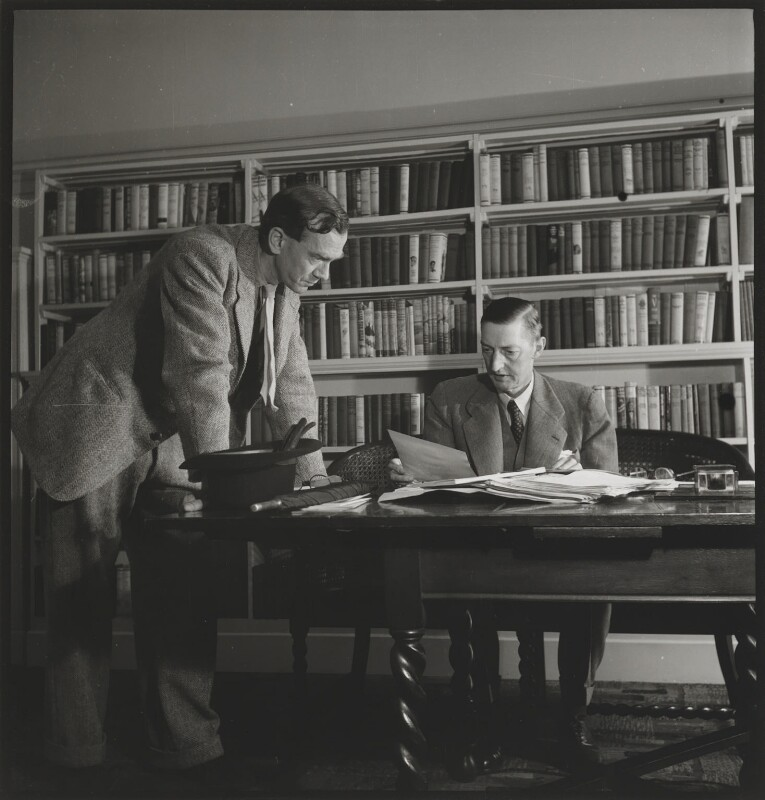 Graham Greene; Douglas Francis Jerrold, by John Gay, published November 1947 - NPG x127763 - © National Portrait Gallery, London