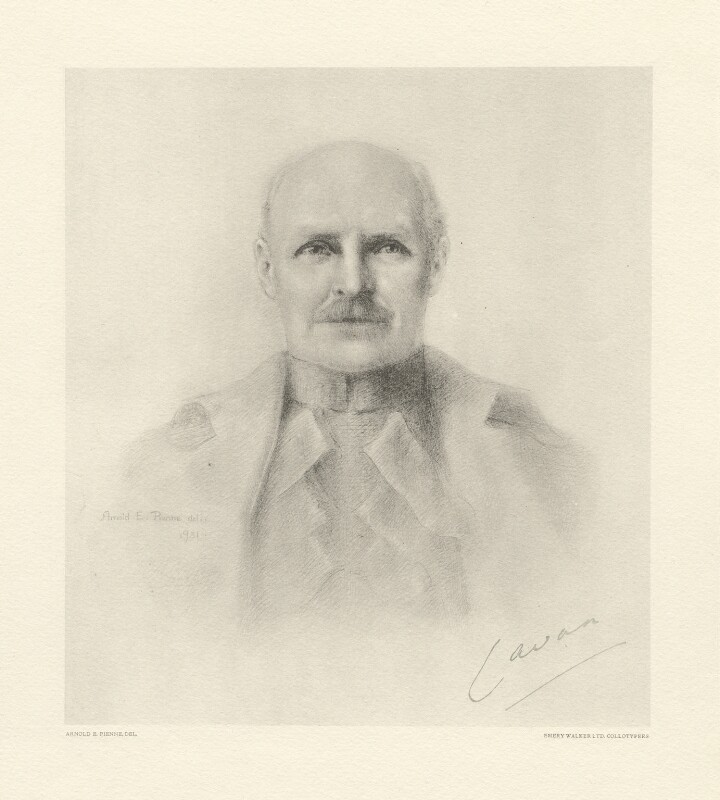 (Frederic) Rudolph Lambart, 10th Earl of Cavan, after Arnold E. Renne, (1931) - NPG D20823 - © National Portrait Gallery, London