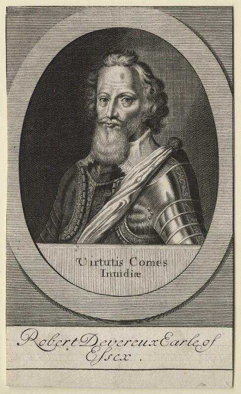 Robert Devereux, 2nd Earl of Essex, after Magdalena de Passe, after  Willem de Passe, (1620) - NPG D21315 - © National Portrait Gallery, London