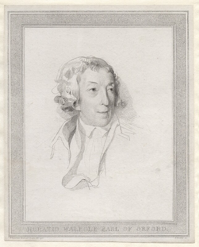 Horace Walpole, by T. Evans, after  Sir Thomas Lawrence, (1795) - NPG D21326 - © National Portrait Gallery, London