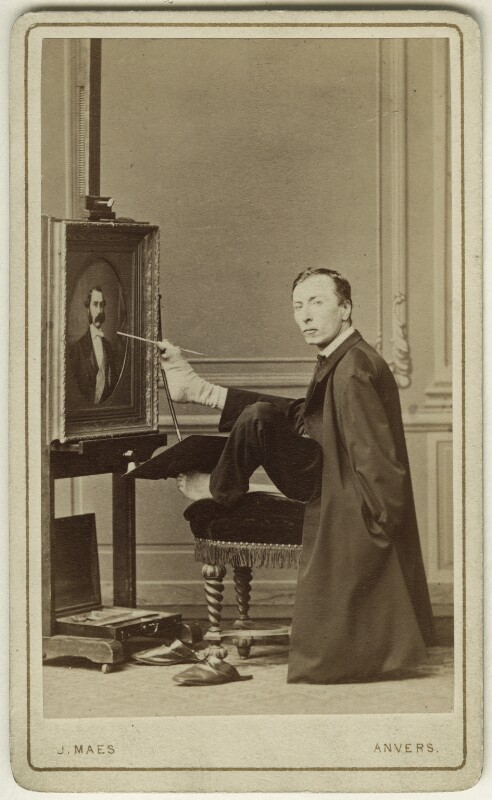 Charles François Felu, by Joseph Maes, 1875 - NPG Ax17156 - © National Portrait Gallery, London