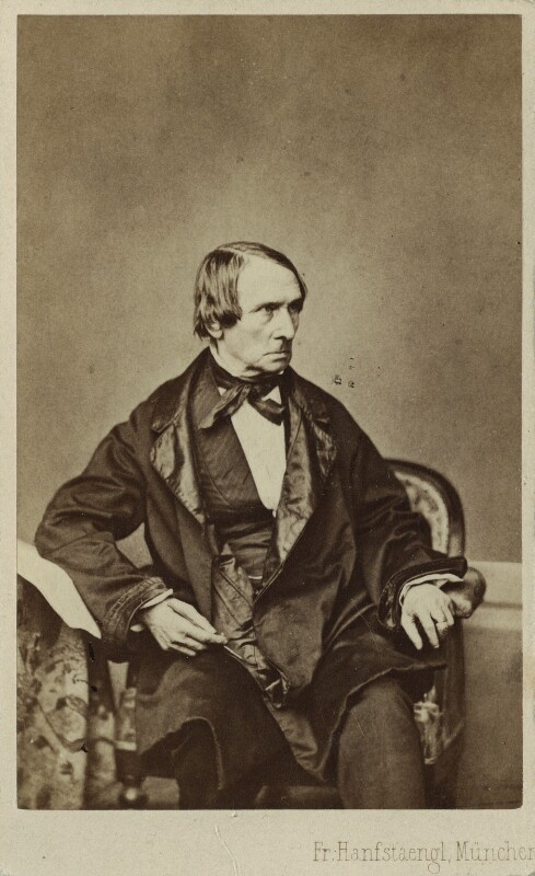 Peter von Cornelius, by Franz Hanfstaengl, mid 1850s-mid 1860s - NPG Ax17200 - © National Portrait Gallery, London