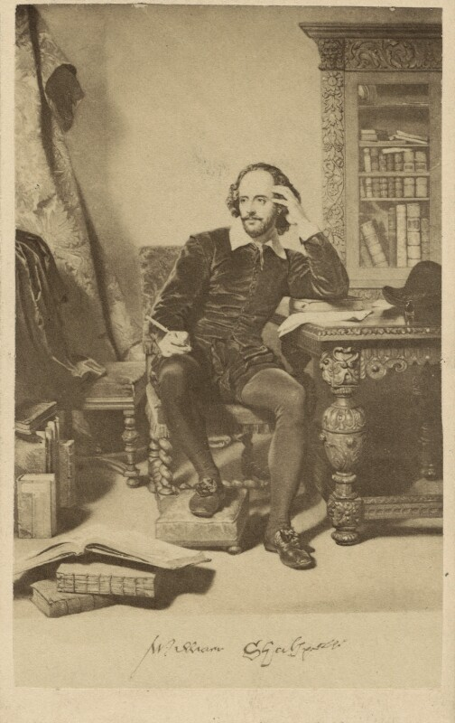 William Shakespeare, after John Faed, 1864 or before - NPG Ax39783 - © National Portrait Gallery, London