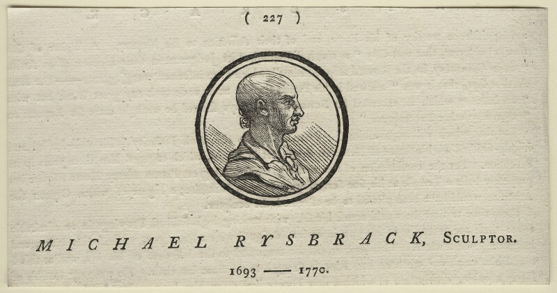 John Michael Rysbrack, after Unknown artist, after 1770 - NPG D21338 - © National Portrait Gallery, London